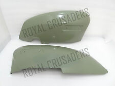 NEW LAMBRETTA GP150 GP200 LEFT AND RIGHT SIDE PANEL SET SIL (PRIMER PAINTED)