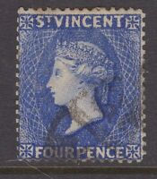 St Vincent 4d dull ultramarine (w/m reversed) crown C/A w/m sg 41a CV £350