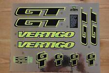 Reproduction 1994 GT Vertigo BMX Decal Set - Chrome Backing