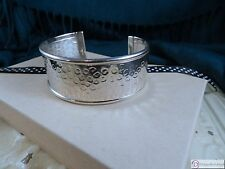 Cuff Bracelet ~ Hammered Sterling Silver with Polished Edge