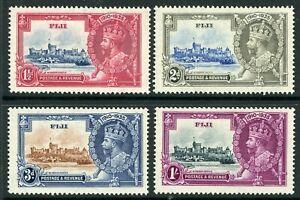 British 1935 KGV Silver Jubilee Fiji Scott #110-113 Mint Non Hinged Y86