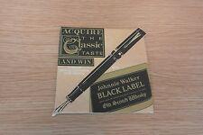 Johnnie Walker Black Label Beermat - 1988