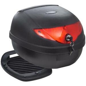 36L Motorcycle Motorbike Helmet Rear Top Box Luggage Storage Case Lockable