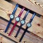 Retro Classic Dial PU Leather Strap Simple Women Girls Quartz Wrist Watch