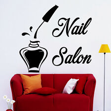 Wall Decals Bottle Nail Salon Decal Beauty Studio Decor Stickers Design Art MA05
