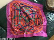 """2011 CHIC ICONIC Sold Out MOST WANTED & RECOGNIZABLE """"Cavalcadour"""" silk scarf"""