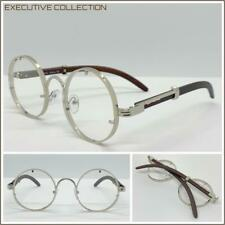 Classy Elegant Sophisticated Clear Lens EYE GLASSES Round Silver Fashion Frame