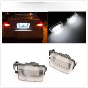 LED License Plate Light Lamp For Nissan 350Z 370Z GT-R Infiniti G35 G37 White