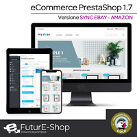 Sito Web eCommerce con PrestaShop sincronizzato completamente ad eBay e Amazon