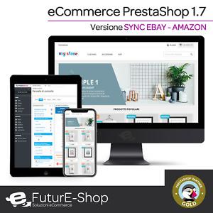 Sito Web eCommerce con PrestaShop sincronizzato completamente ad eBay e Amazon