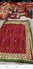 Rajasthani silk red color bandhani Designer saree New fancy saree gotta patti bo