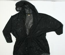 DOTTI L DRESSES WOMEN'S TUNIC HOODIE SWIM COVER-UP BLACK STYLE 1800