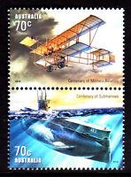 2014 Centenary of Military Aviation & Submarines - MUH Pair