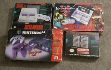 Super Nintendo 64 Snes N64 Box Bundle Killer Instint 4 boxes have issues RARE