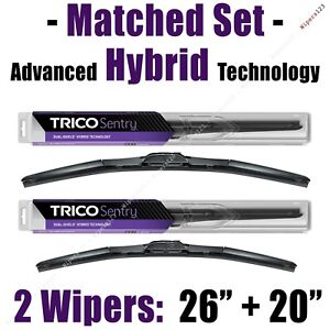 "Matched Set of 2 Hybrid Wipers 26""+20"" Trico Sentry Wiper Blades - 32-260 32-200"