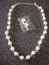 NIB New Faux Pearl Necklace & Earrings Gift Set