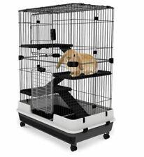 Black Metal Cage Small In Door Animal Rabbit Ferret Guinea Pig Durable Cheap