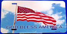 Novelty Patriotic license plate GOD BLESS AMERICA New Aluminum auto tag LP-0140