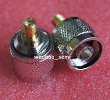 1X Adapter N plug male to SMA female jack RF connector straight