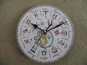 """FANTASTIC HOROSCOPE 7"""" wall clock upcycled"""