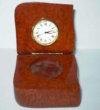 orologio da scrivania,da tavolo in radica