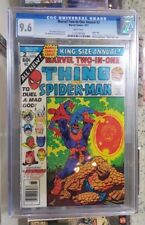 Marvel Two-in-One Annual #2 CGC 9.6 - Thanos saga ends - Spider-man Warlock app