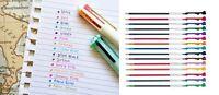 5 x 0.5mm Refills for Pilot Hi-Tec-C Coleto Rollerball Pen, 15 Colors Available