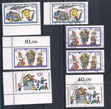 Gestempelte Briefmarken aus der BRD (1980-1989) mit Echtheitsgarantie als Satz