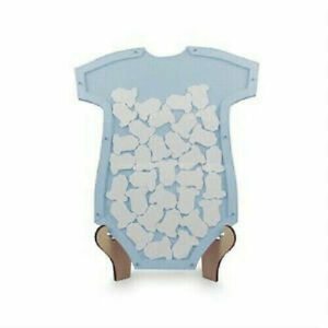 BABY SHOWER CARDS BOX GUEST BOOK WISHING WELL WISHES DROP 40 cards gifts blue