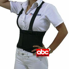 Light Women Lumbar Support, Back Brace, Posture / Large Belt with Suspenders