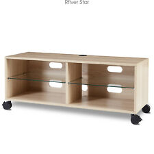 Rolling Wood Corner TV Stand Entertainment Center TV Stand for up to 65 inch TVs