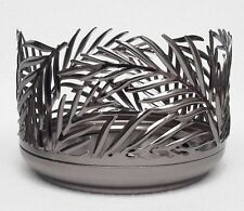 1 Bath & Body Works Nickel PALM LEAF Large 3-Wick Candle Holder Sleeve 14.5 oz