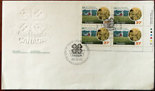 Canada, 4-H Club Roland, Manitoba, Canada Embossed 1988 FDC with 4 x Stamps