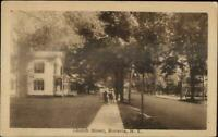 Moravia NY Church St. c1910 Postcard