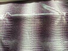 "Light Purple White Two Tone Embossed Crocodile Vinyl Fabric - BTY - 54"" / 55"""