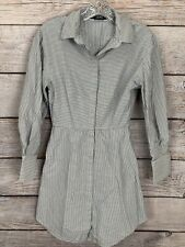 Stockholm Atelier + Other Stories Women's Mid Length Grey & White Striped Dress