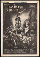 THE SWORD AND THE SORCERER__Original 1981 Trade Print AD / poster__Cannes promo