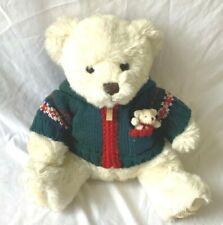 Harrods Christmas Teddy 2006 Year Bear With Miniature Bear - (LEY)