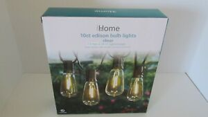 Indoor Outdoor Wedding Party Edison Bulb String Lights Clear 10 Ct