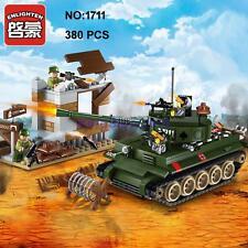 Enlighten 1711 Military Army Green Tank Gun Soldier Figure Building Block Toy