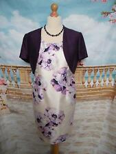 Jacques Vert Dress and/& Bolero Jacket size 14 Occasion/Wedding Outfit Mock Silk