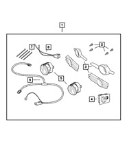 Genuine MOPAR Light Kit - Fog - Harness Overlay 5166846AA