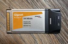 Siemens Gigaset PC Card 54 Mbit Wireless LAN Cardbus.
