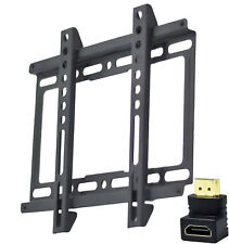 "Ultra Slim TV Wall Mount Bracket With HDMI Connector  15"" - 42"" LED LCD Plasma"