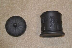 Wedgwood Black Basalt Pot or Jar and Lid