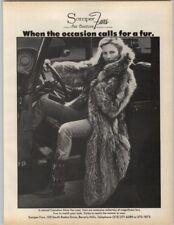 Somper Furs Canadian Silver Fox Coat - Fur Couture 1979 Print Ad