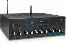 Pyle Professional Powered Amplifier & Bluetooth Receiver Stereo Audio System,...