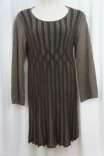 Style & Co Woman Dress Sz 1X Espresso Brown Long Sleeve A Line Evening Dress
