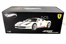 FERRARI 458 CHALLENGE ITALIA WHITE #3 HOT WHEELS ELITE 1/18 DIECAST CAR X5487
