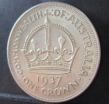 1937 Australia 5/- One Crown #RB1239 =HIGH GRADE=